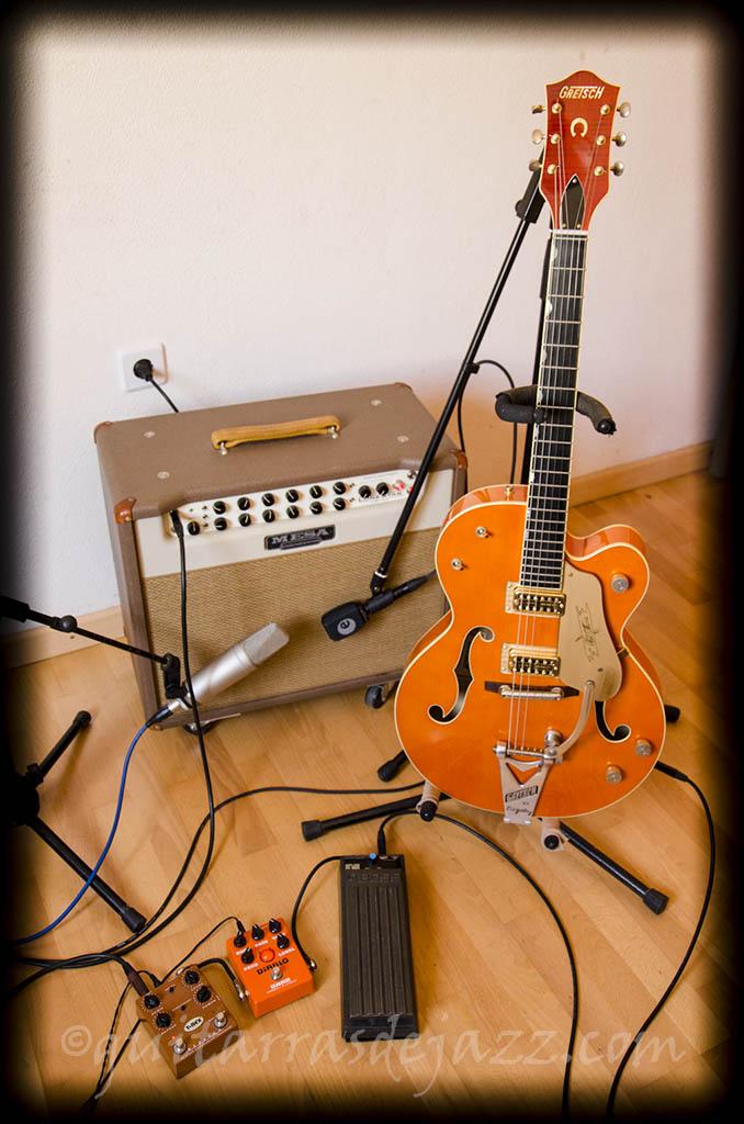 Gretsch, Mesa, pedales y micros