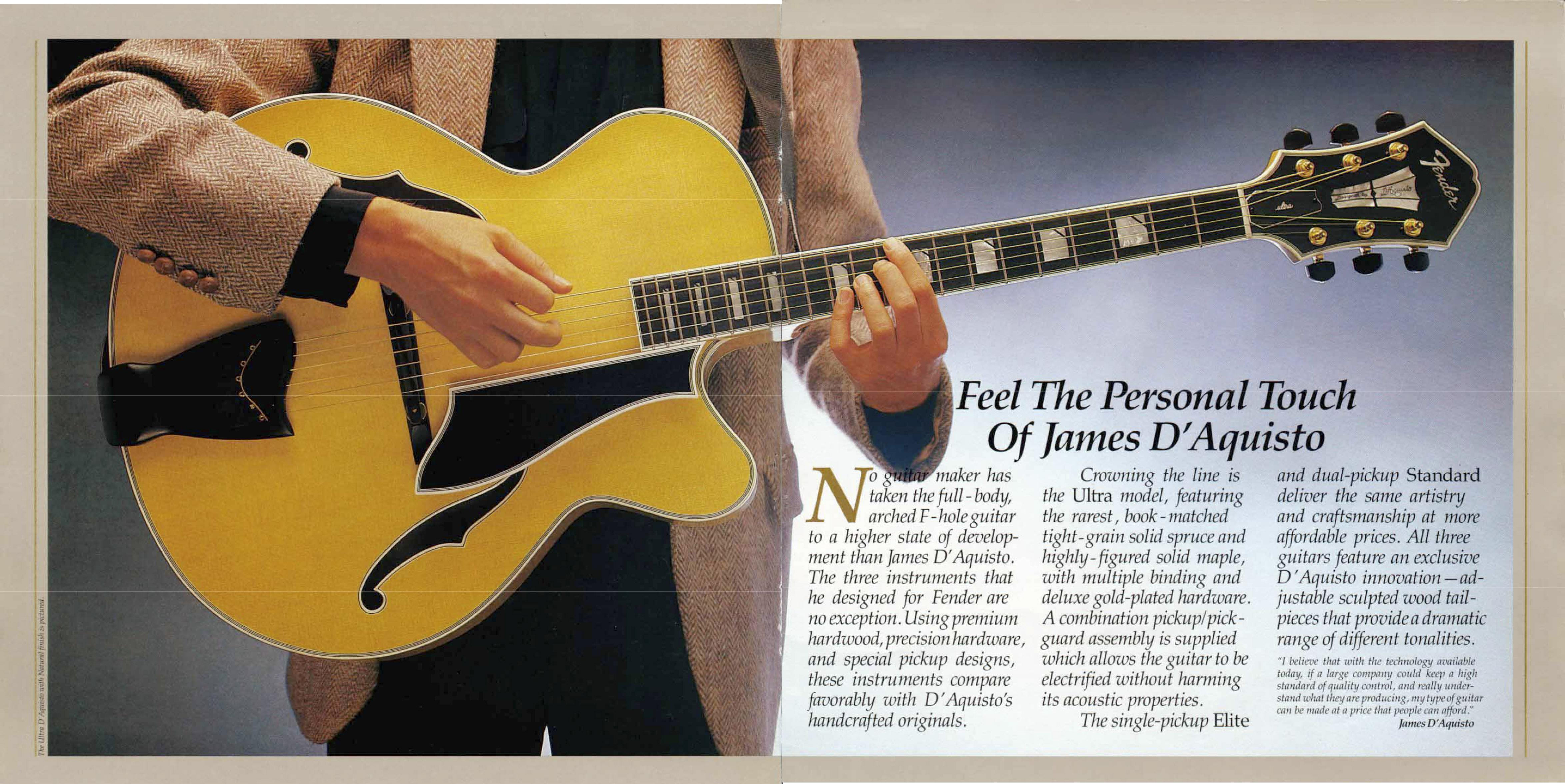 x - Catálogo de Fender D'Aquisto Élite pag 2